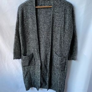 MAXSPORT Long Duster Cardigan Sweater Grey